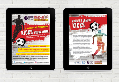 Stevenage FC foundation Screen ads